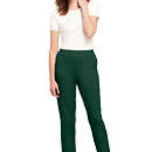Lands' End Olive Cotton Knit Pants Size Large NWT